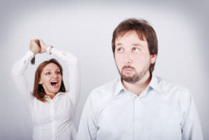 Woman frustrated in her relationship